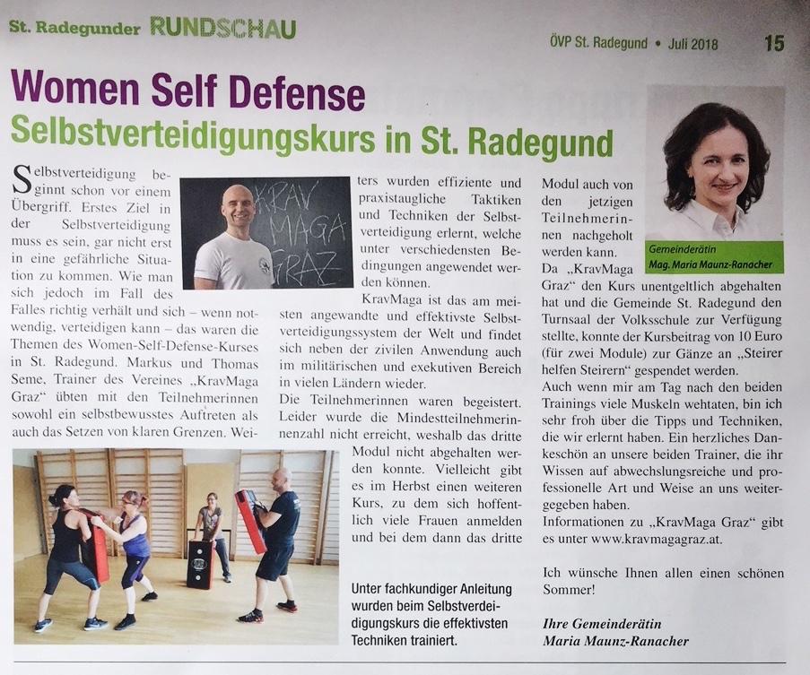 Selbstverteidigung für Frauen in St. Radegund