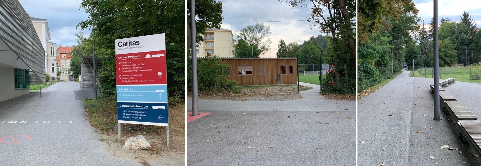 Zugang zu Krav Maga im Augustinum über Hasnerplatz oder Grabenstraße (Zugang C)